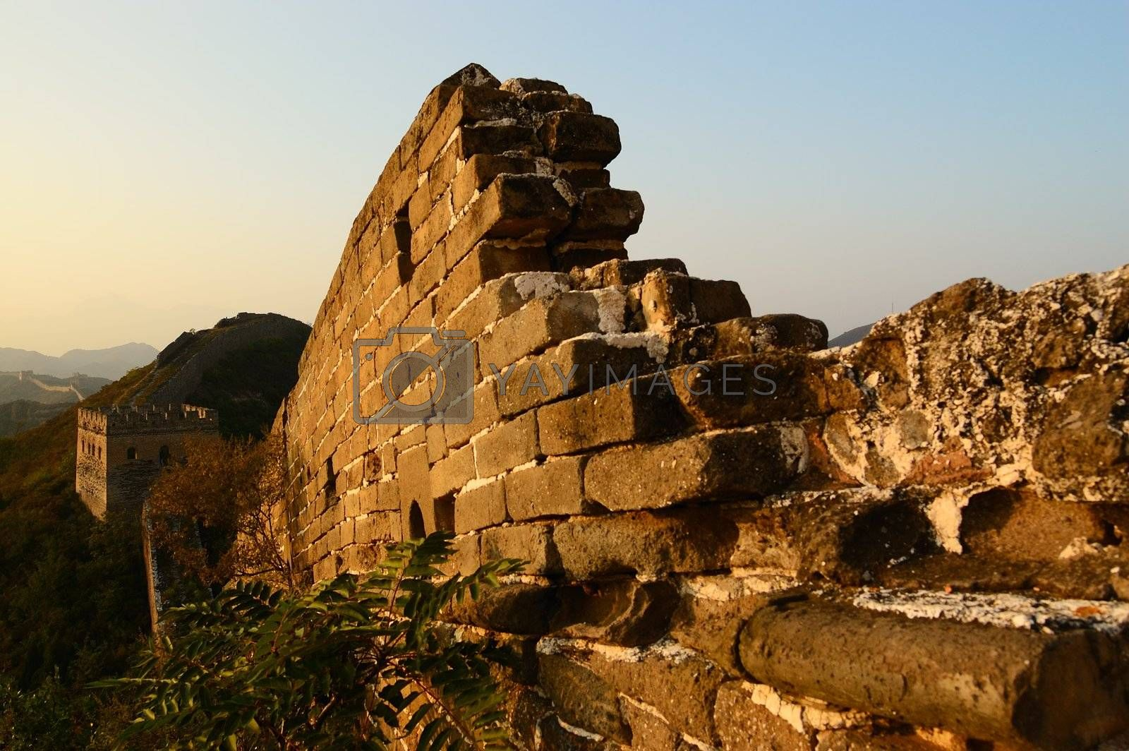 The Great Wall of China in Jinshanling, Hebei Province, China