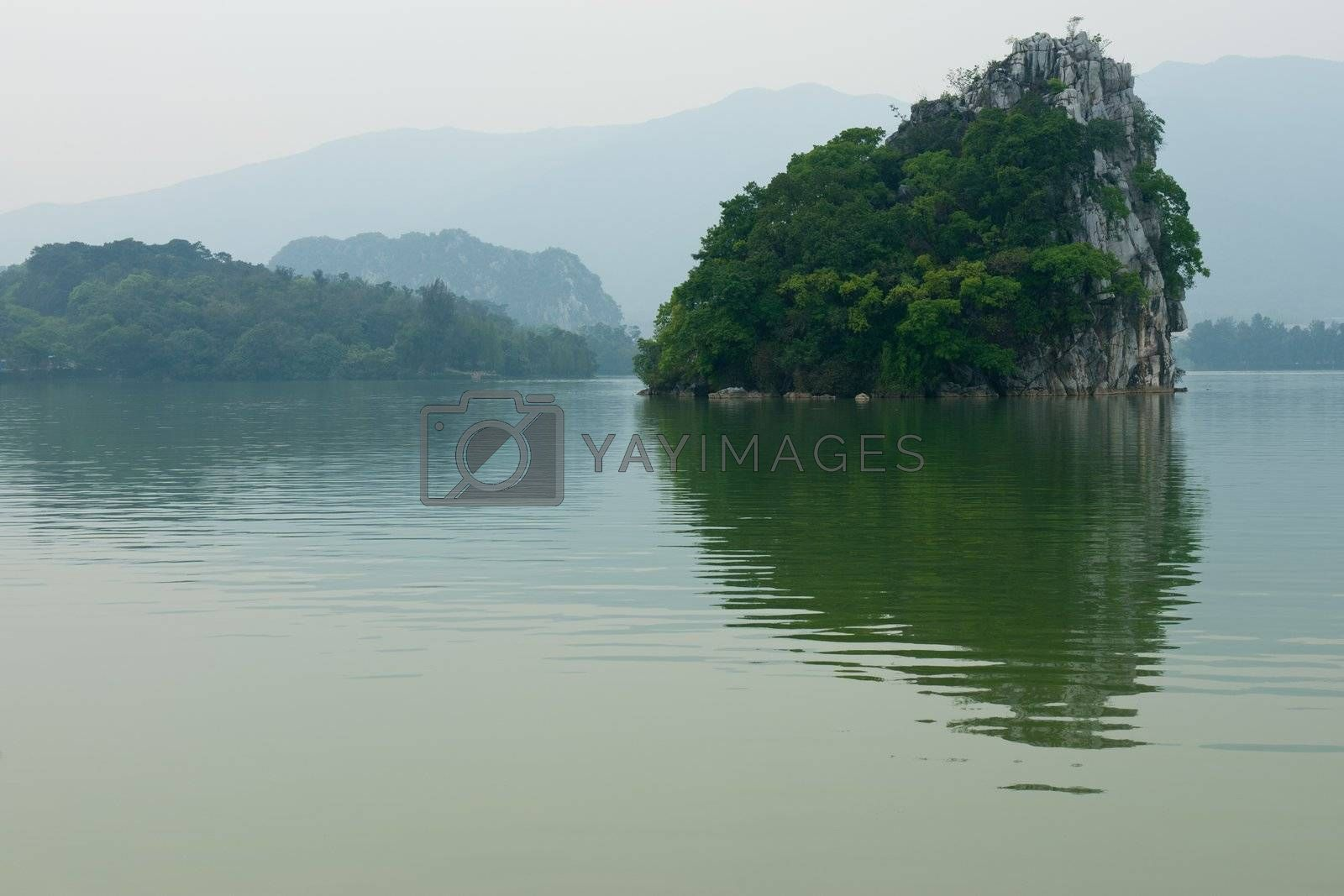 The Star Lake landscape in Zhaoqing, Guangdong province, China