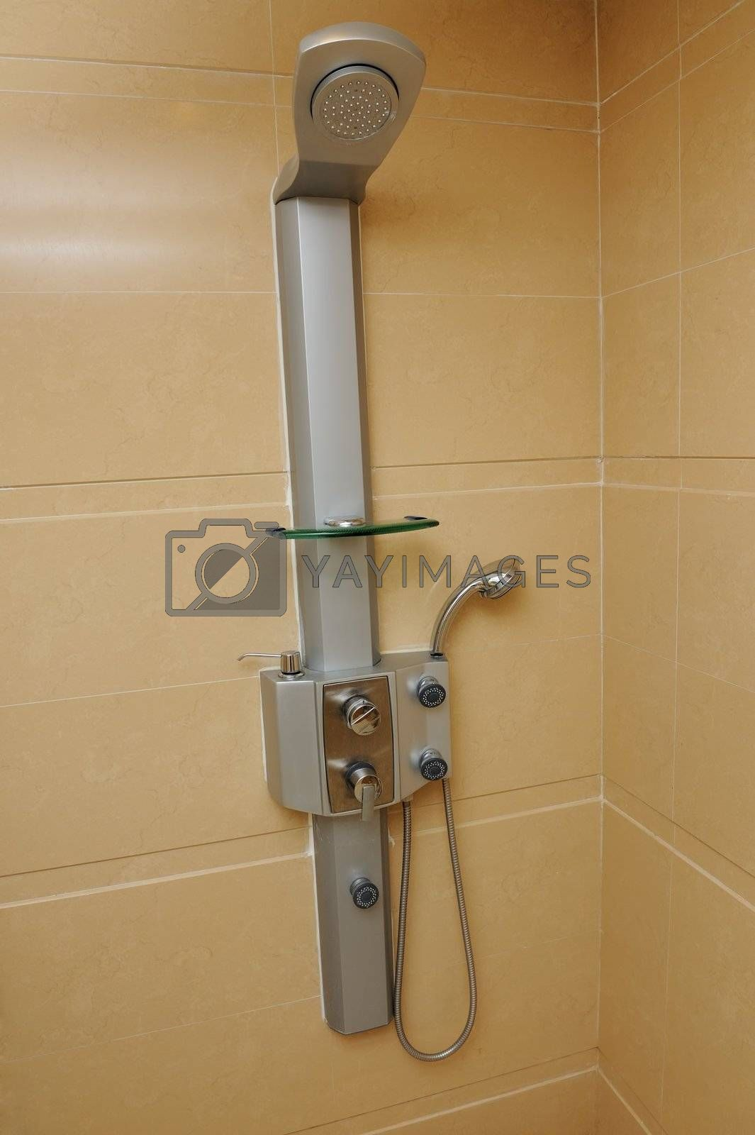 Shower head in the bathroom