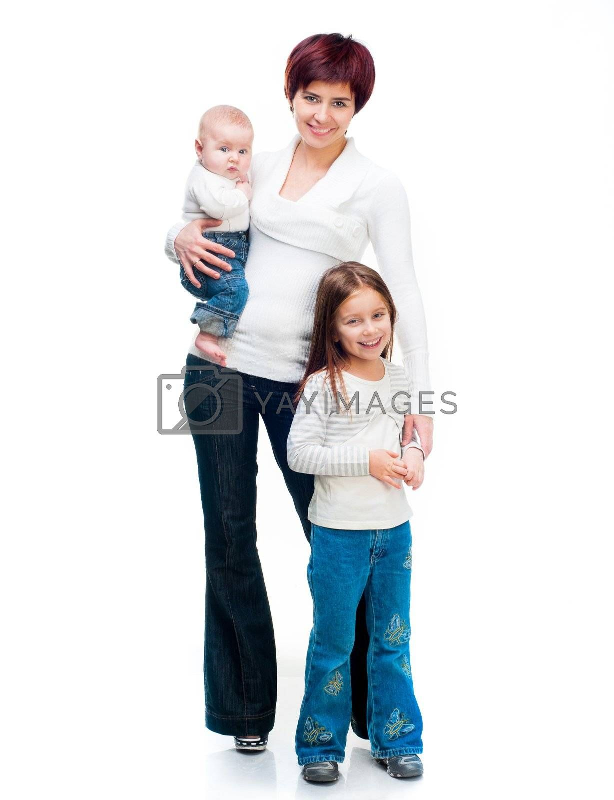 Royalty free image of Mother with babies by GekaSkr