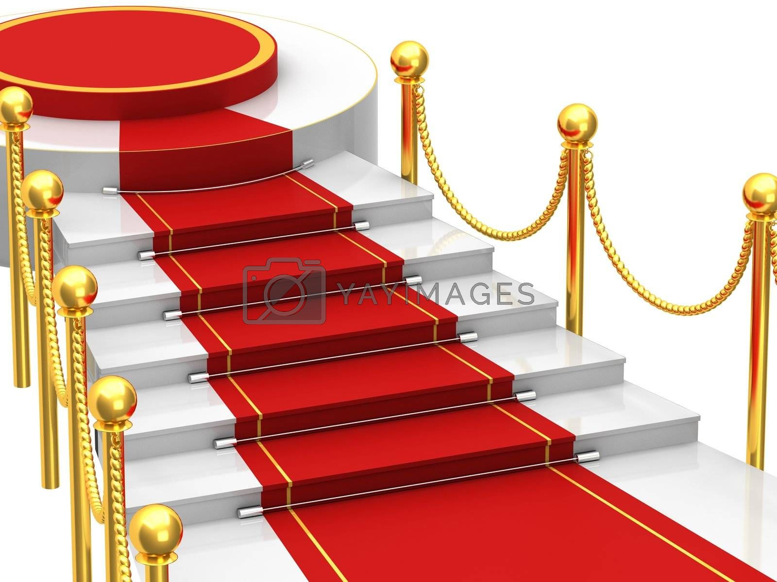Ladders with red carpet by Lina0486