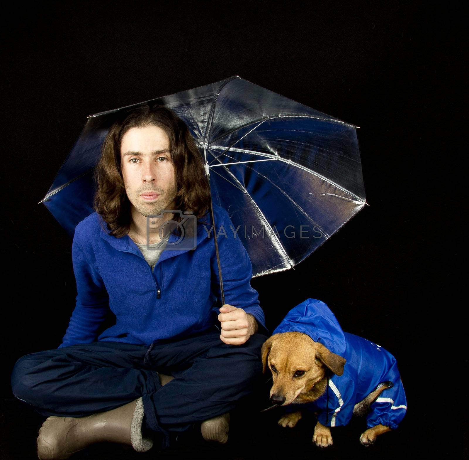 the blue rain dog and master