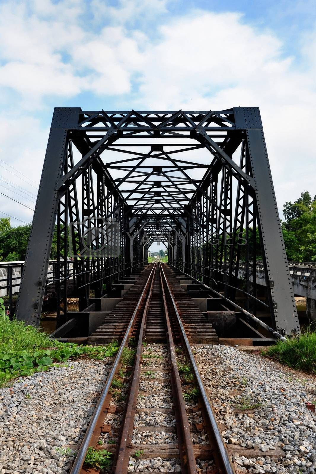 Bridge made of steel. For the train to pass.