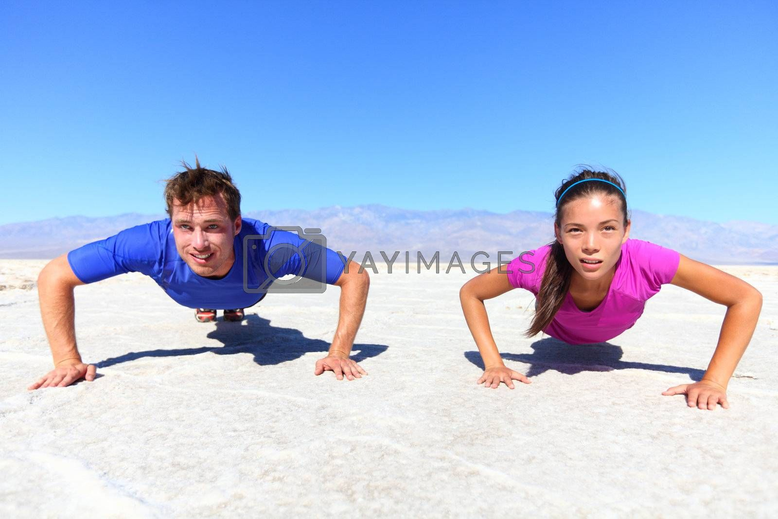 Sport - young fitness couple by Maridav
