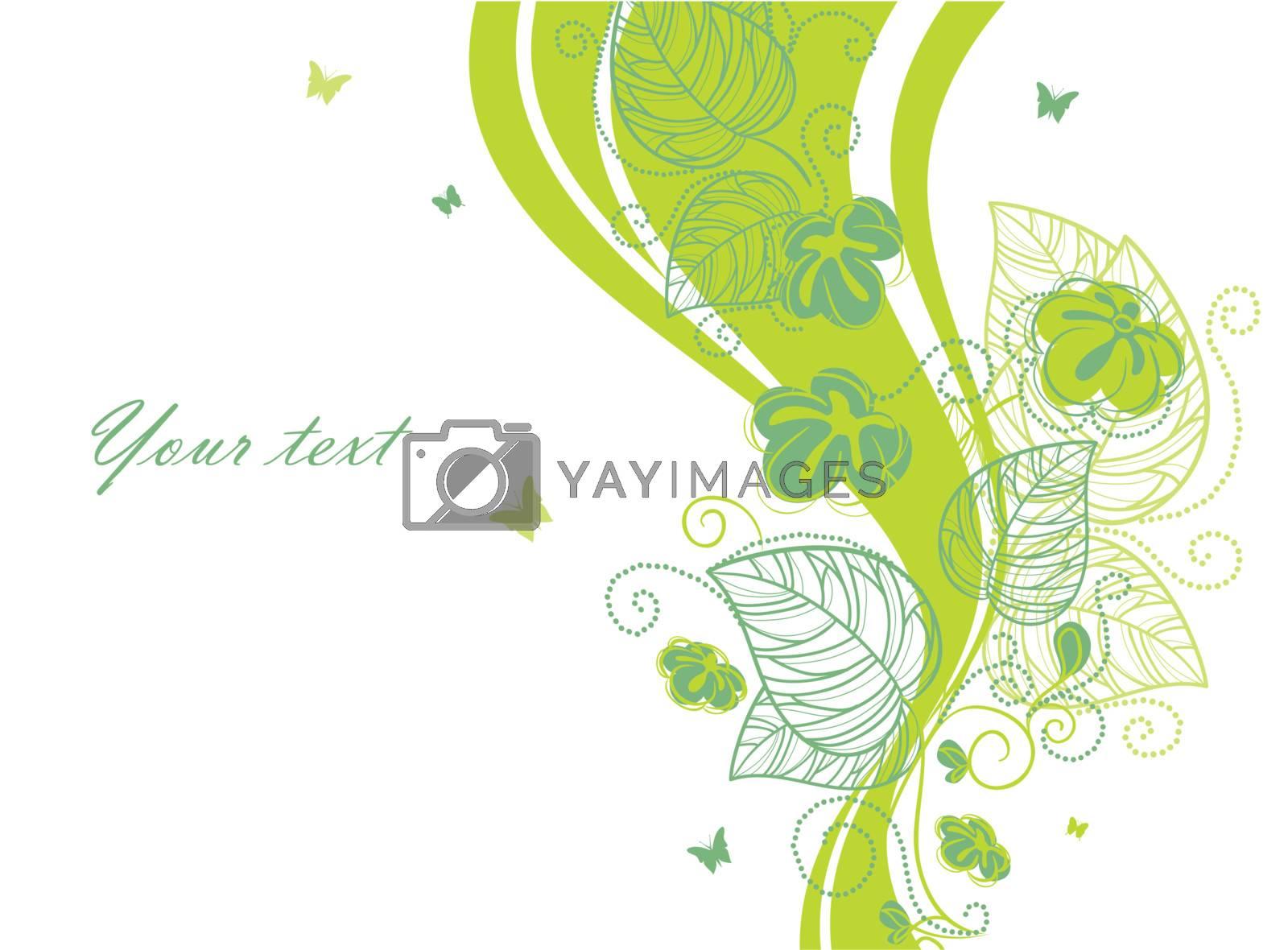 Vector illustration of floral backgrond