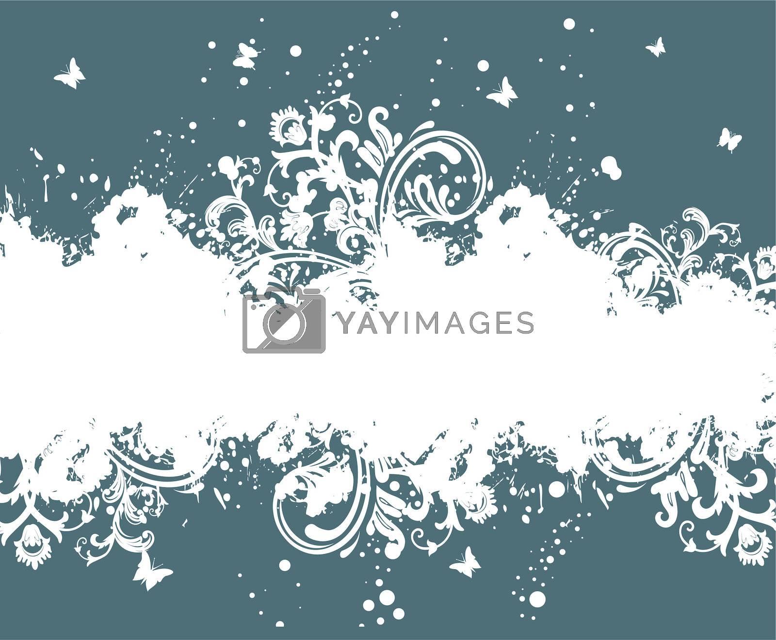 Vector illustration of Floral background