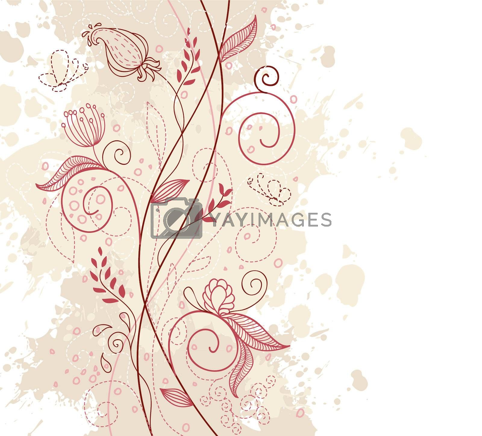 Vector illustration of Floral background
