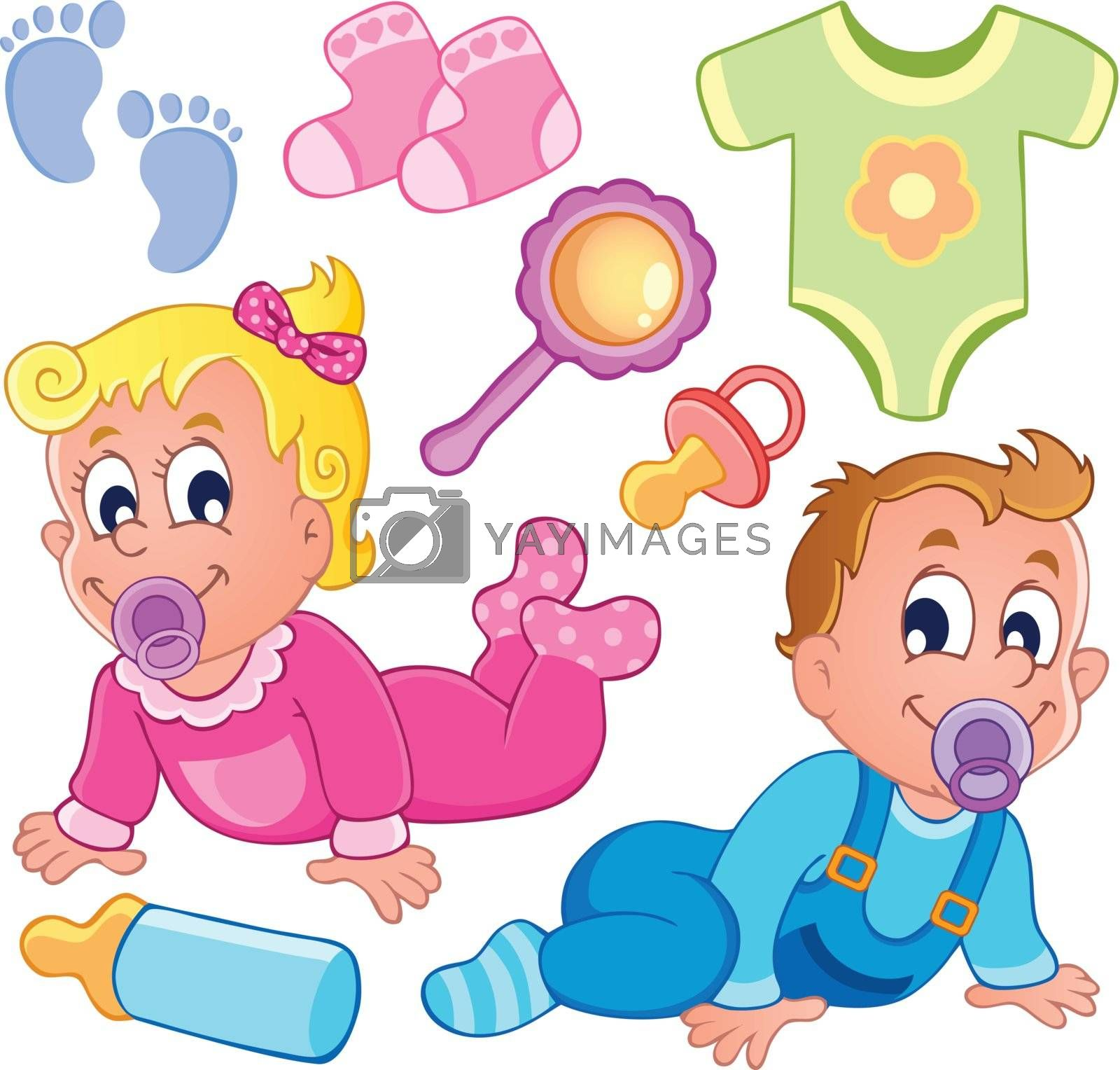 Babies theme collection 2 - vector illustration.