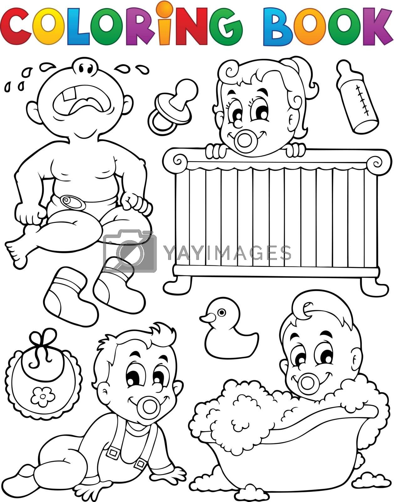 Coloring book babies theme image 1 by clairev
