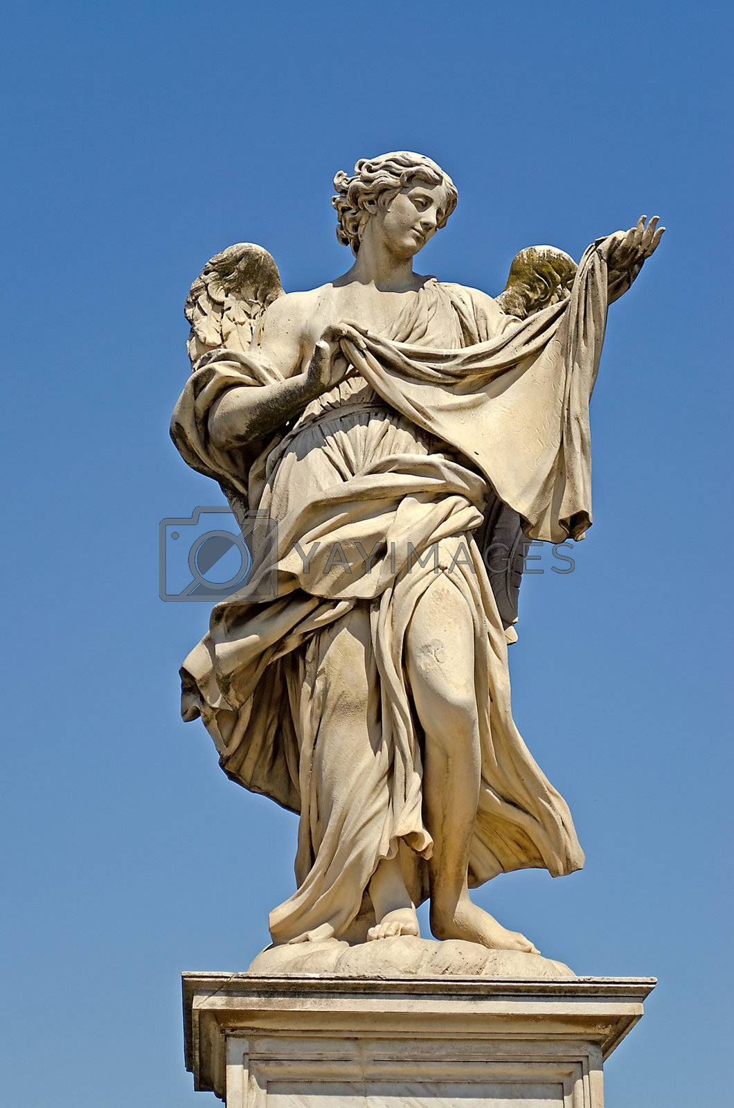 Statue over Sant Angelo Bridge, made by Bernini, Rome