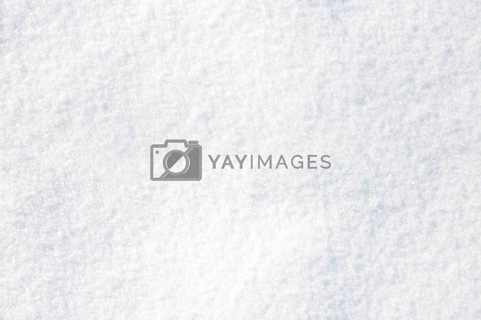 seamless background of white snow in closeup