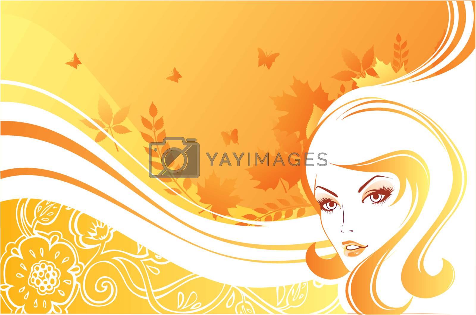Vector illustration of Beauty woman