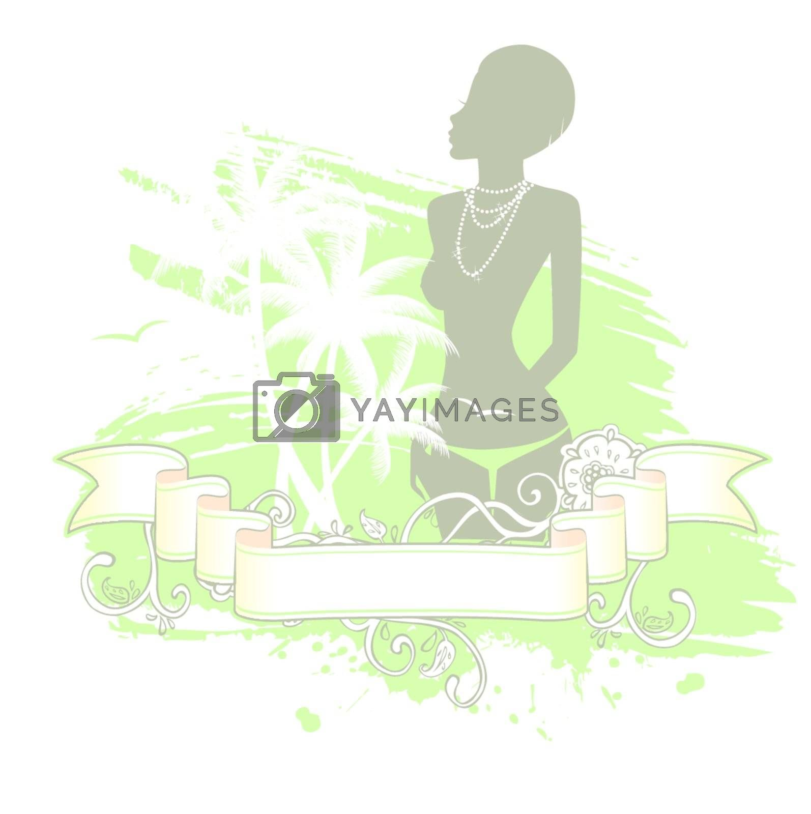 Vector illustration of Summer woman