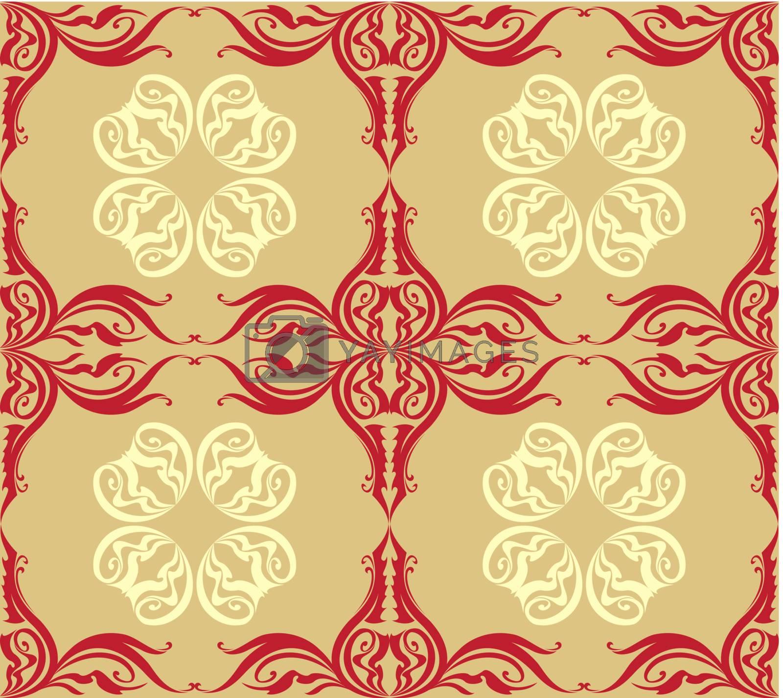 Red Vintage frames. Illustration for creative design