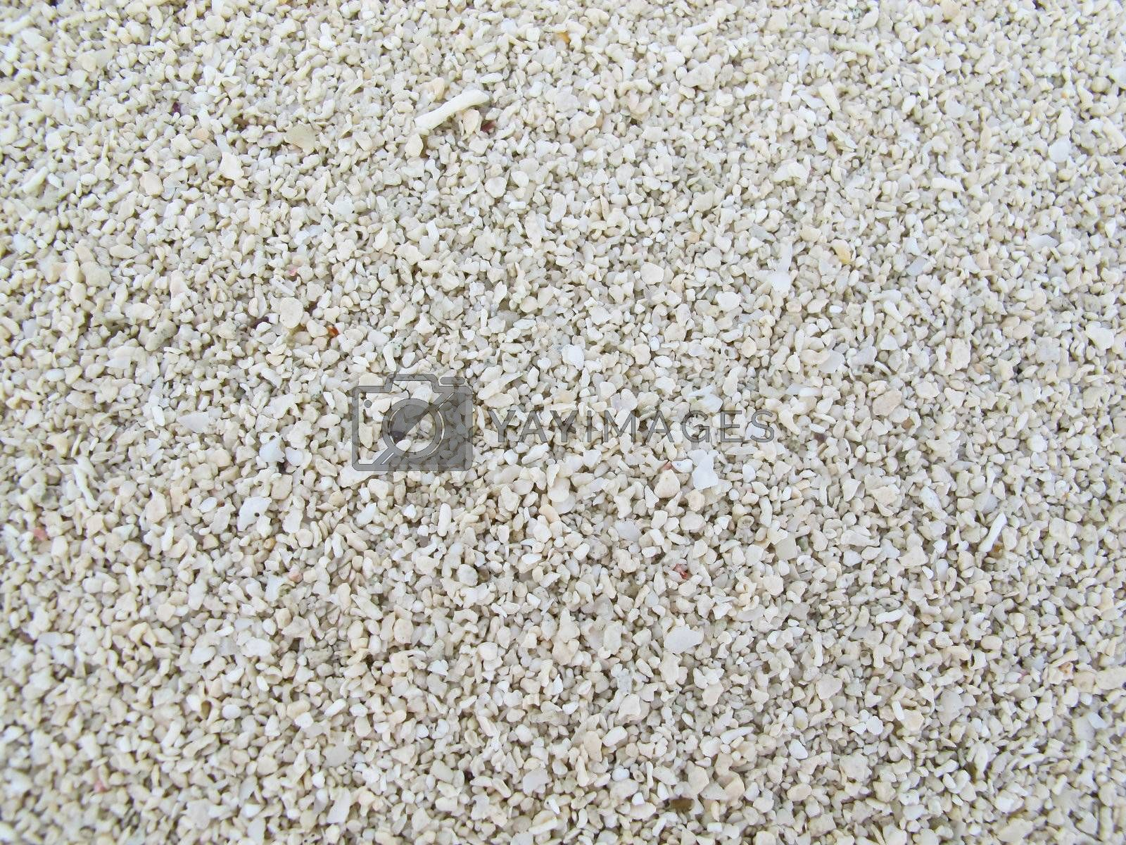 Full frame of clean white pebbles closeup by get4net