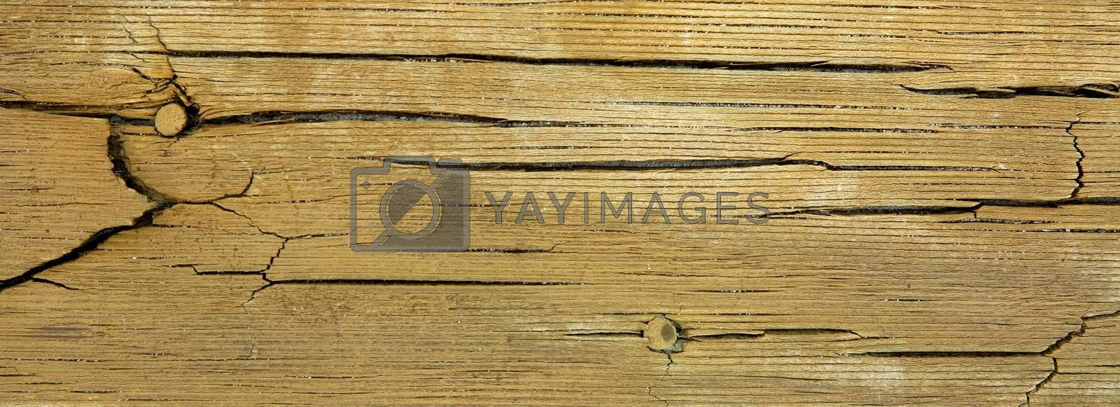 Cracks on a wooden plank by get4net