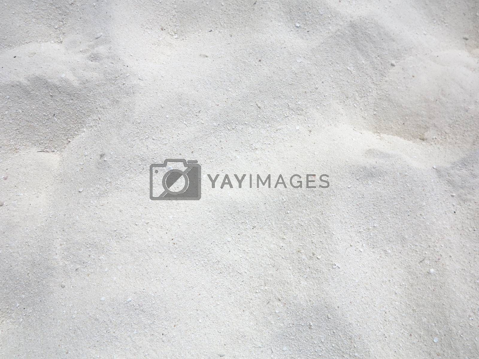 Fine grain white beach sand texture background by get4net