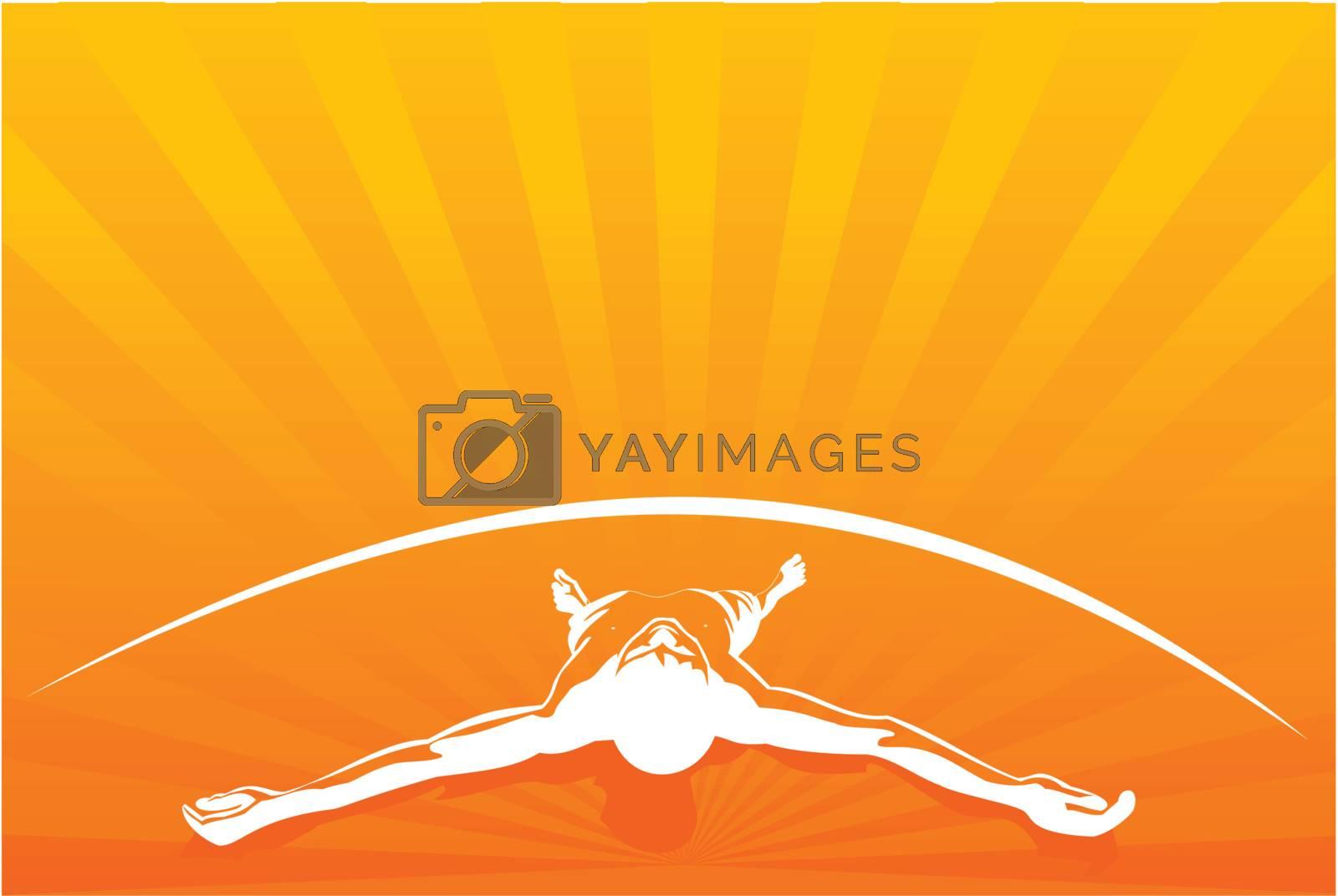Vector illustration of Orange relax