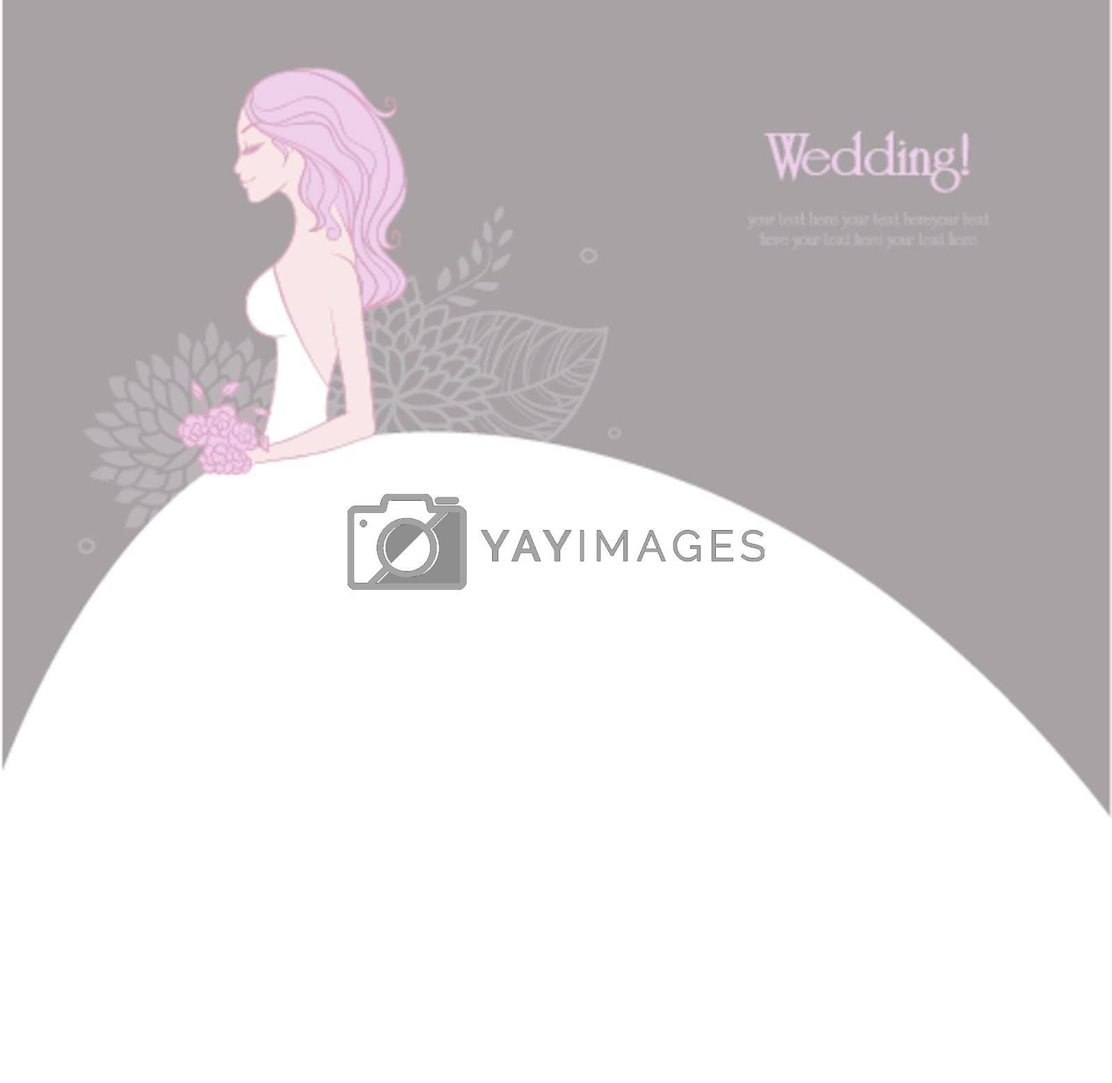 Vector illustration of Elegant bride