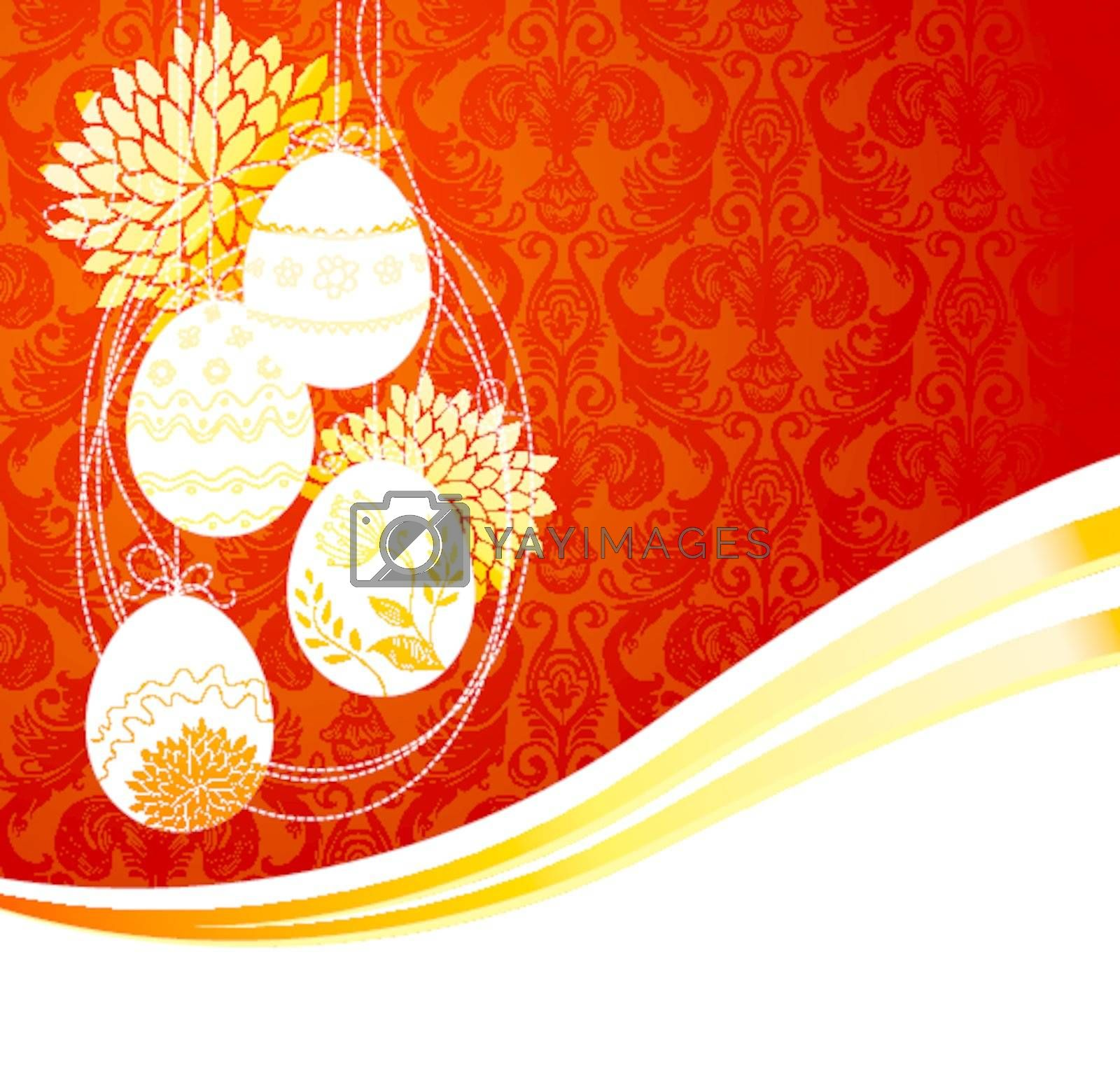 Vector illustration of Egg frame easter background