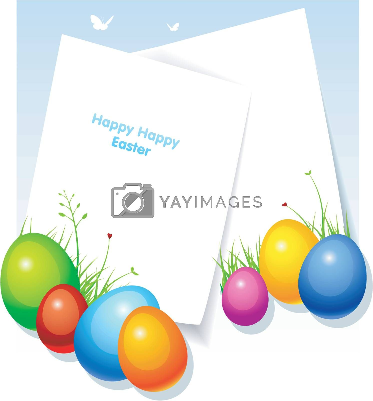 Vector illustration of Pic with eggs