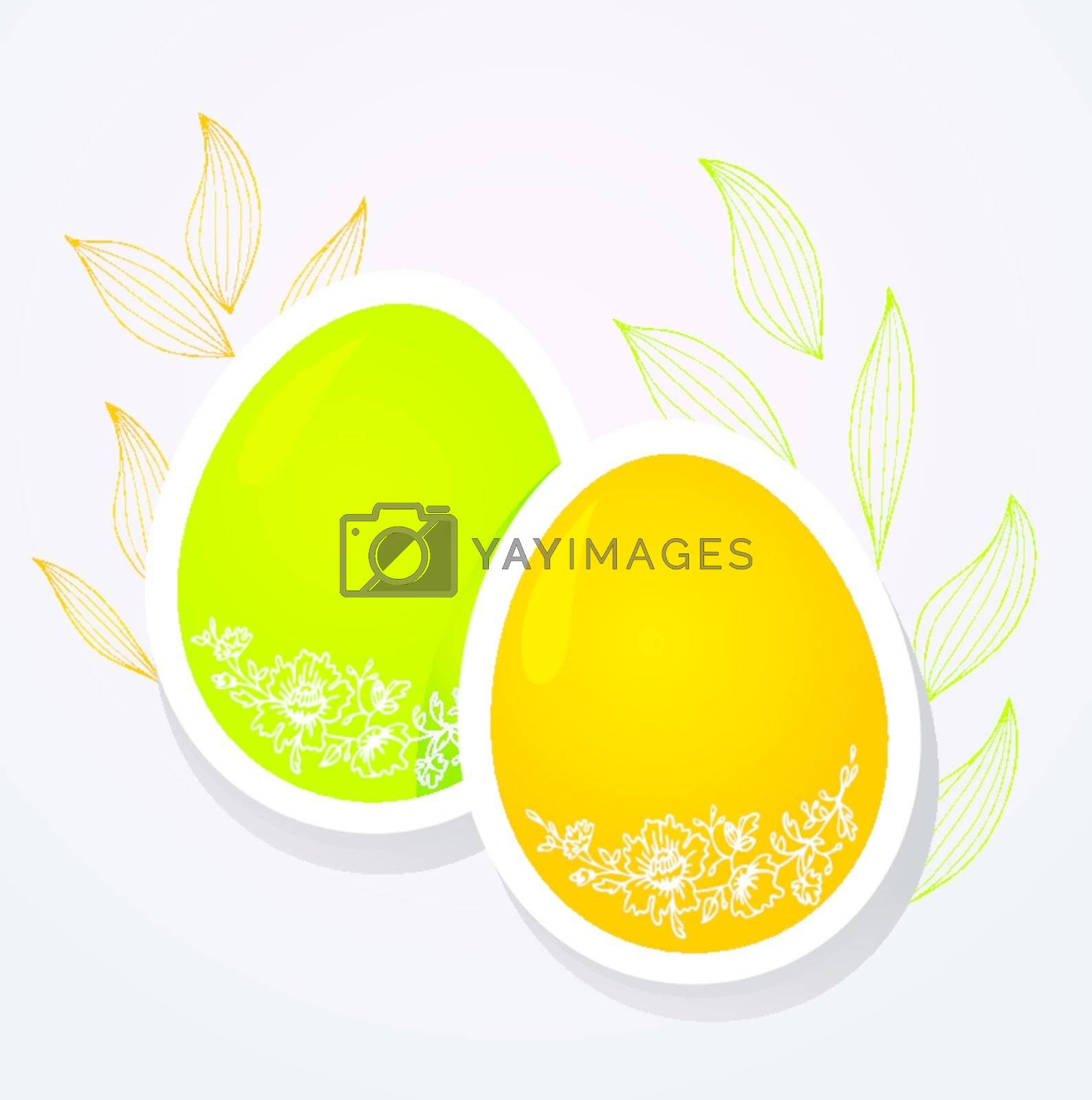 Vector illustration of Easter template