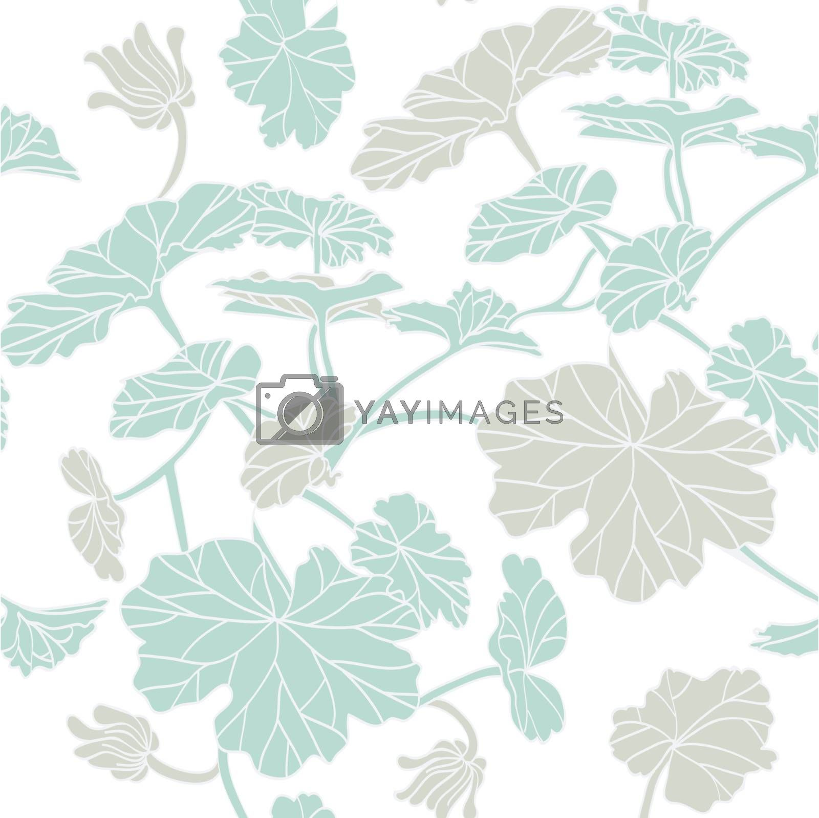 Vector illustration of Floral seamless pattern