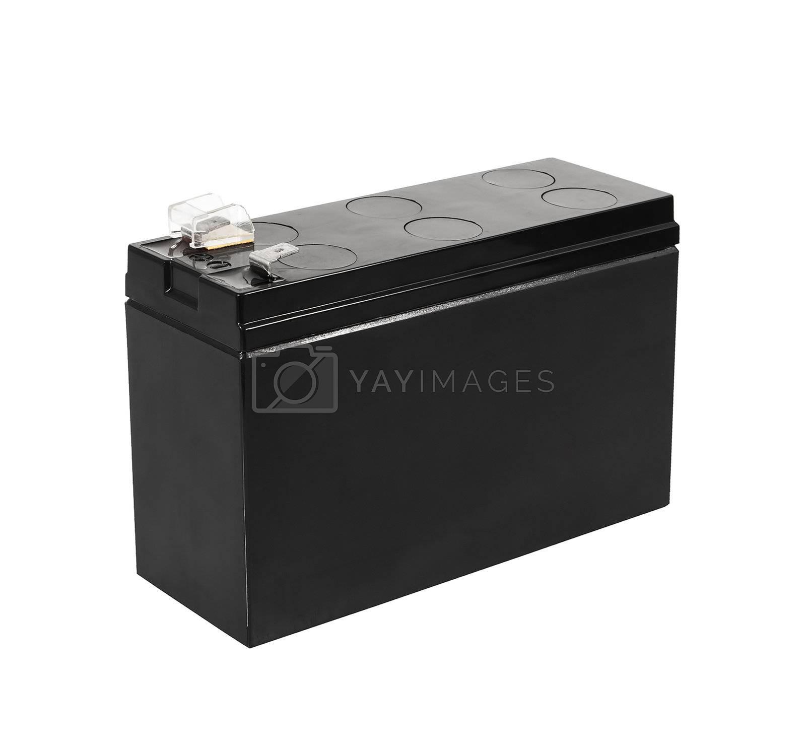 black  battery isolated on white background