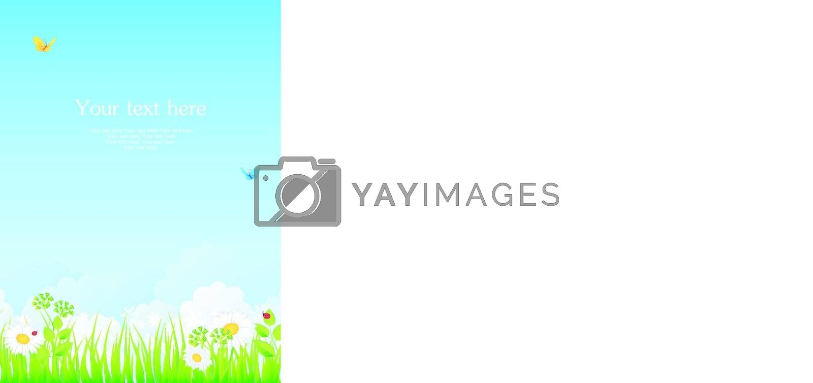 Vector illustration of Summer grass