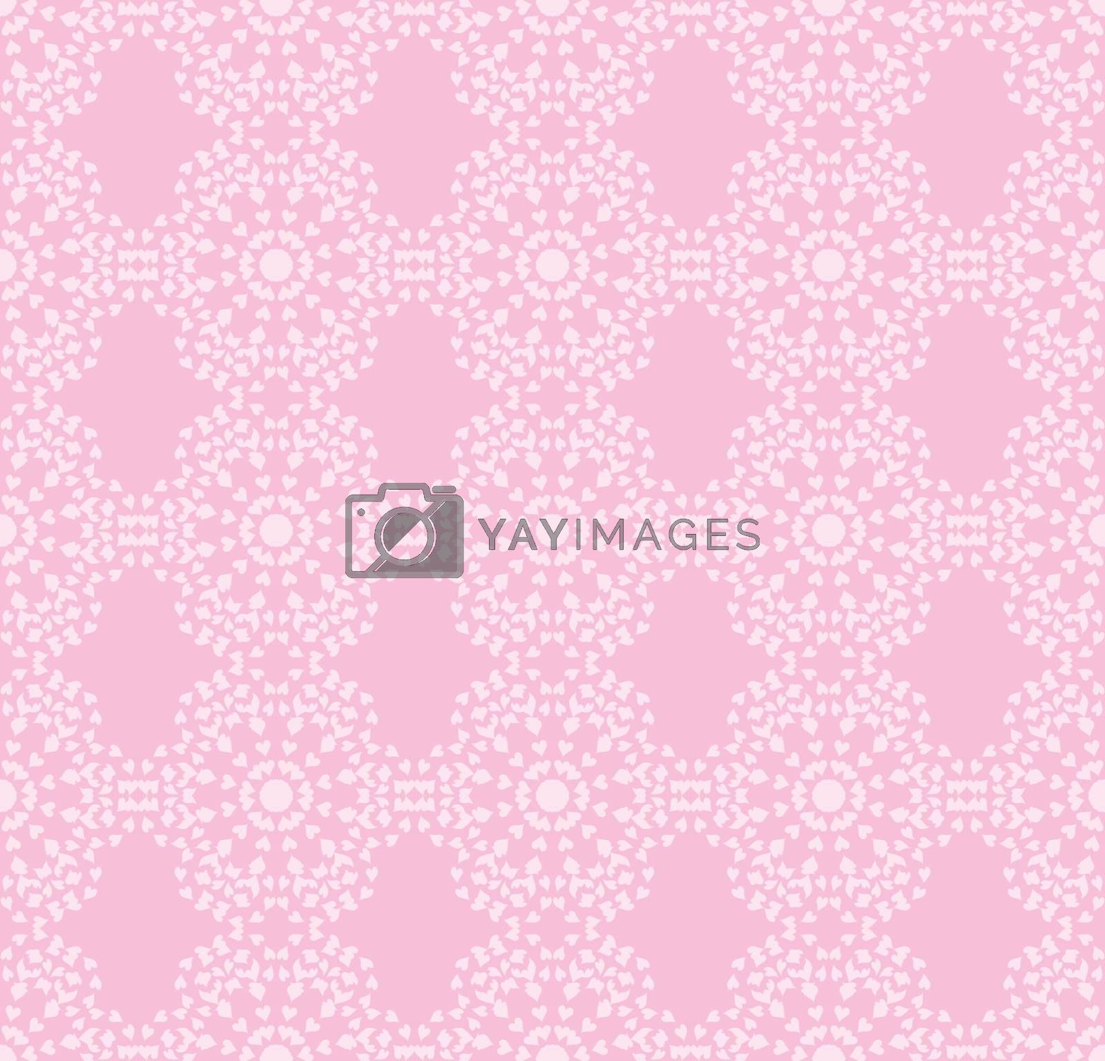 pink seamless pattern made of valentines