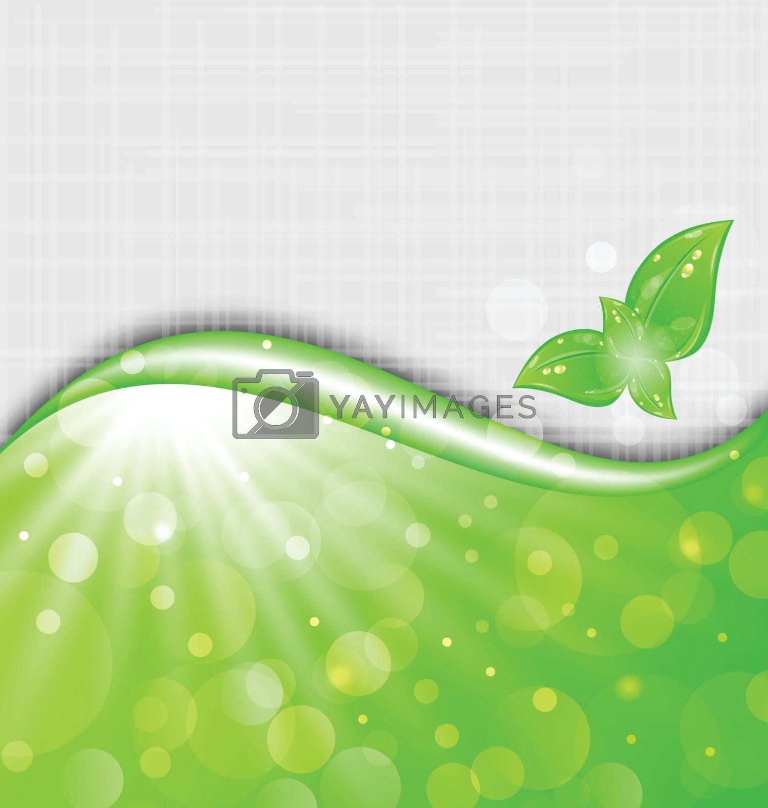 Illustration eco friendly background with leaves - vector