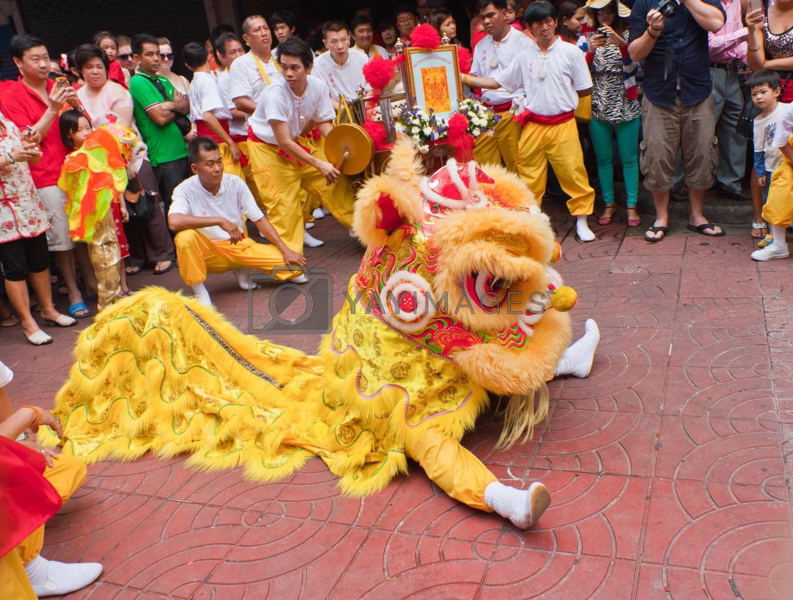 Royalty free image of BANGKOK,Chinatown/THAILAND-February 10:Chinese New Year traditions Chinese New Year Celebrations on February 10, 2013 in BANGKOK  by nikky1972
