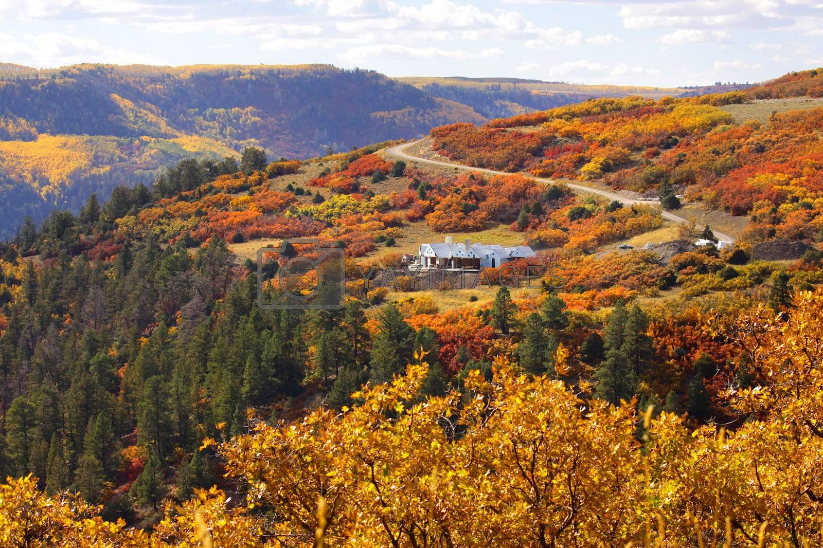 Scenic last dollar road on rocky mountain tops