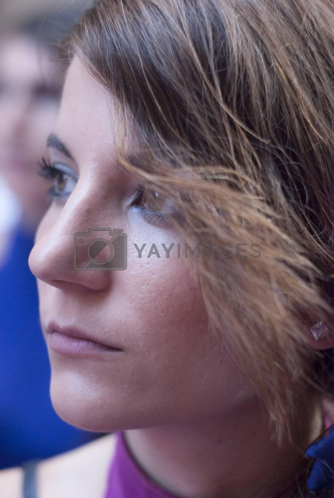 "POLIZZI GENEROSA, SICILY - AUGUST 19: Beautiful Women of Spain folk group and sicilian man at the International ""Festival of hazelnuts"": August 19, 2012 in Polizzi Generosa,Sicily, Italy"