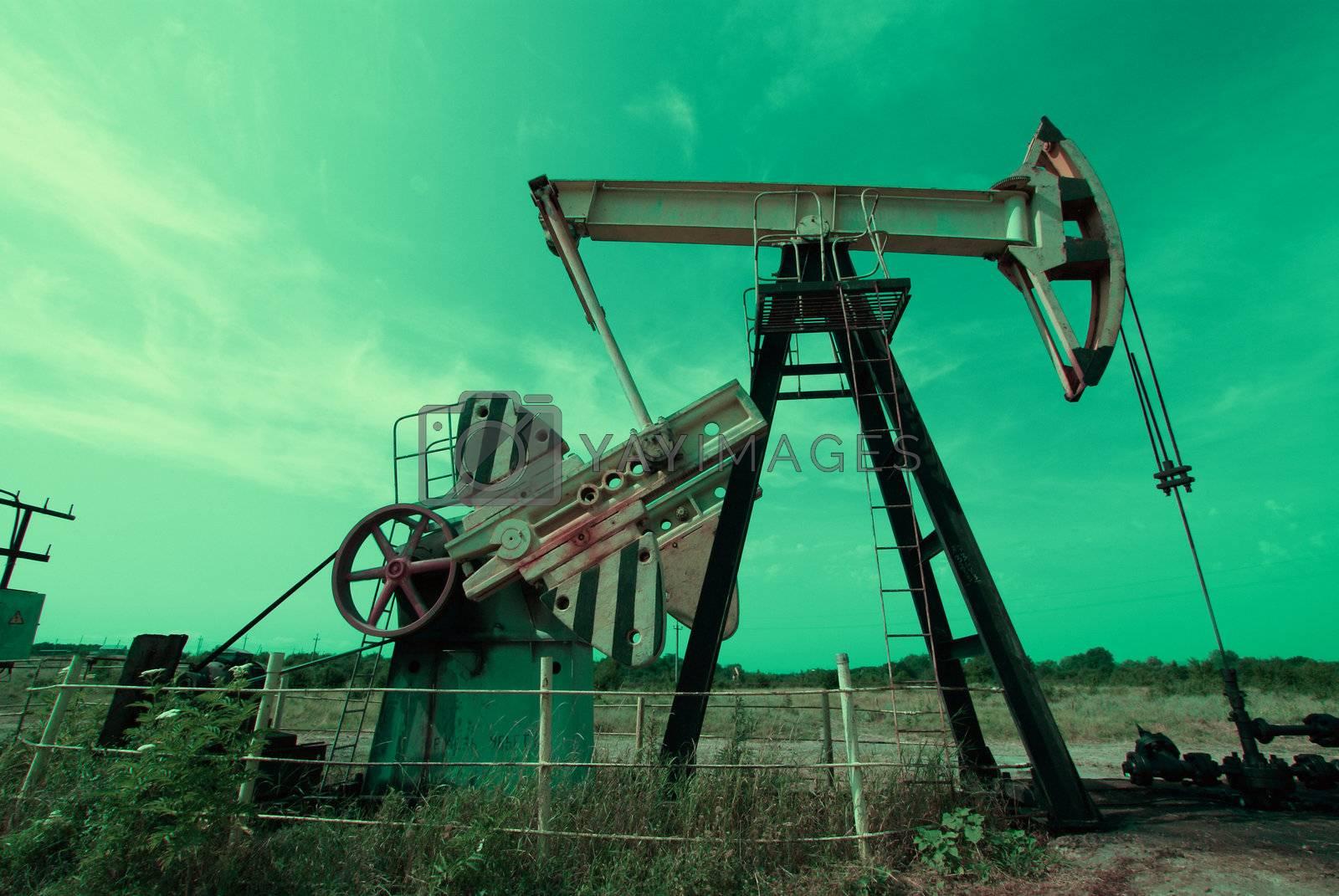 Oil Pump in blue tones