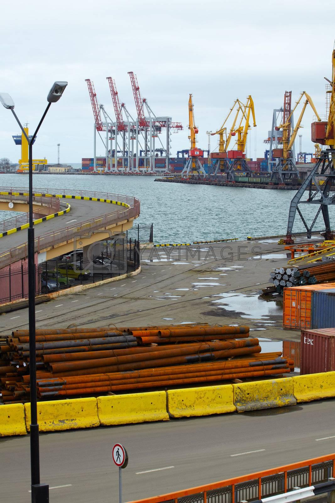 Cargo port in Odessa by bepsimage