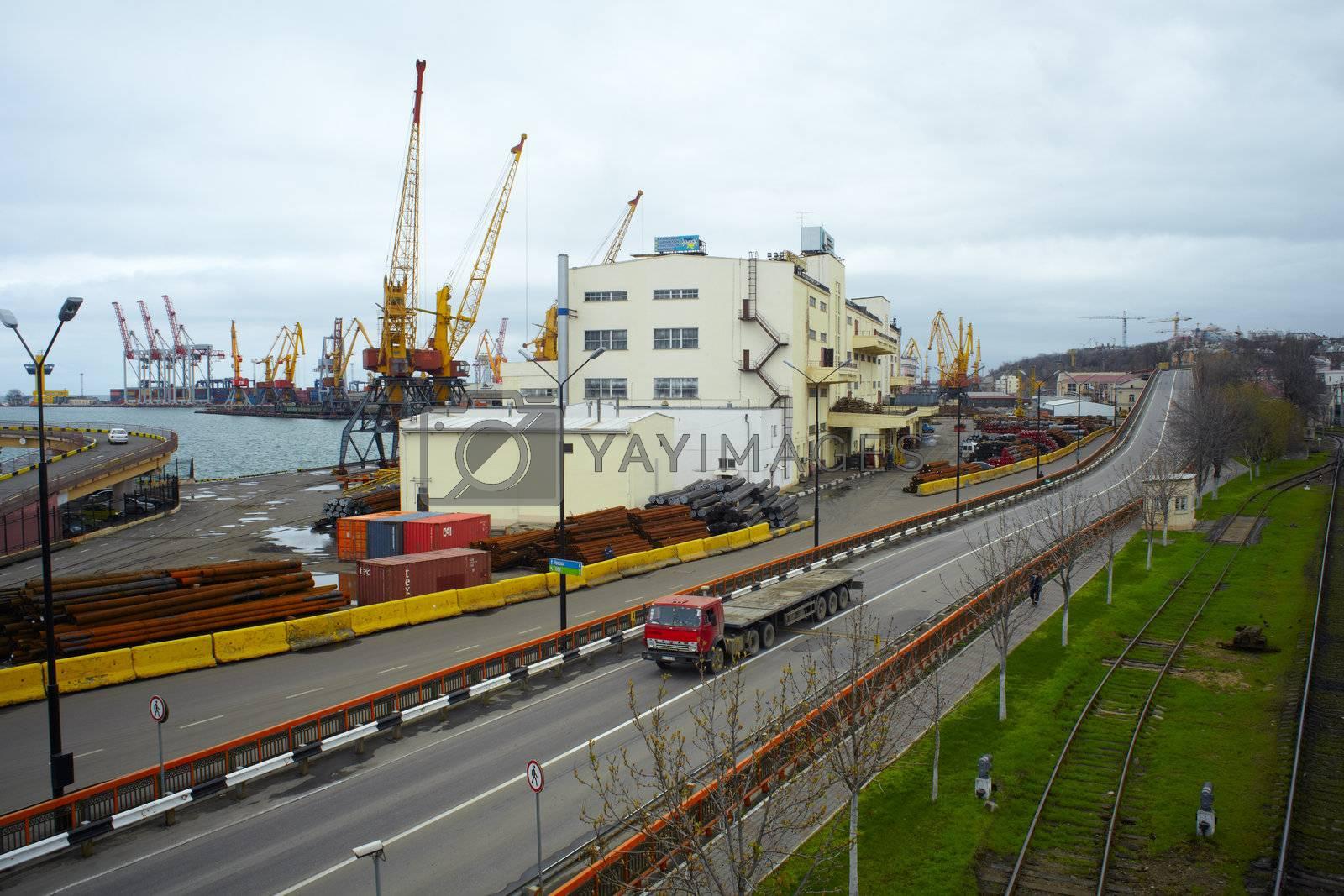Cargo port in Odessa, Ukraine