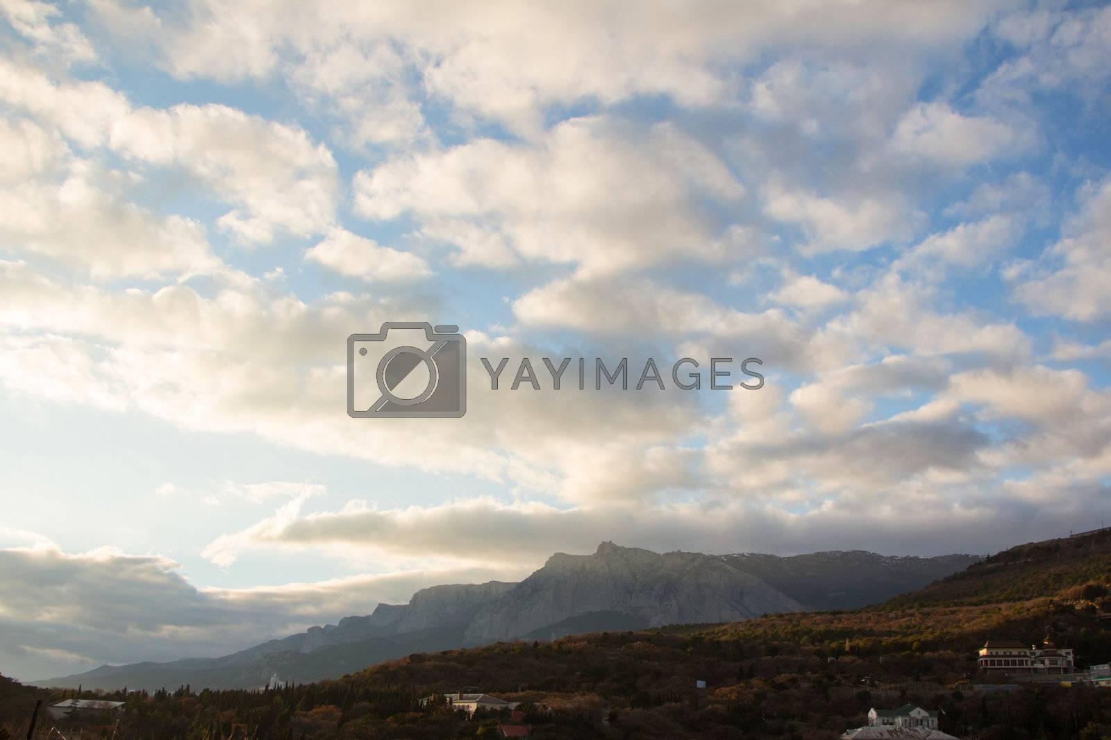 Ukraine mountain ridge