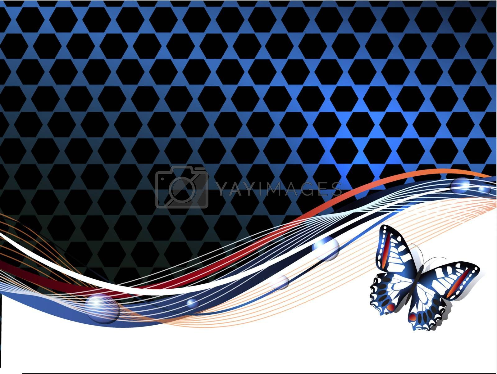 Abstract Background with Butterfly, Copyspace for Your Text