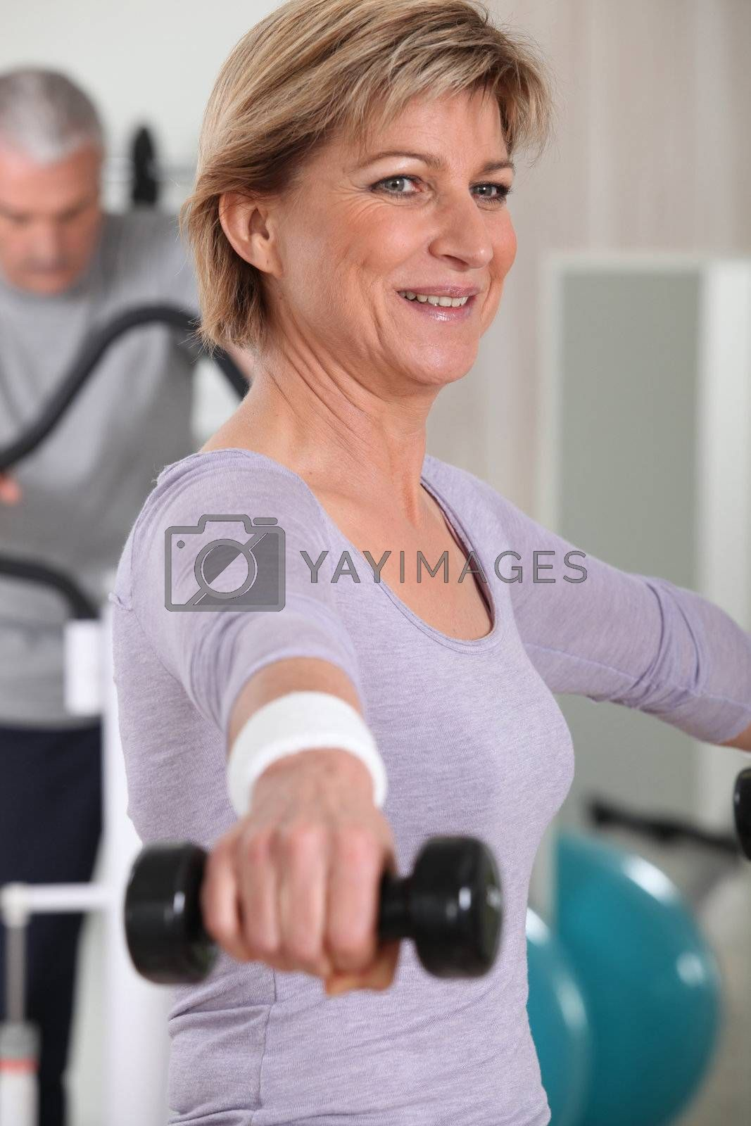 Older people in the gym