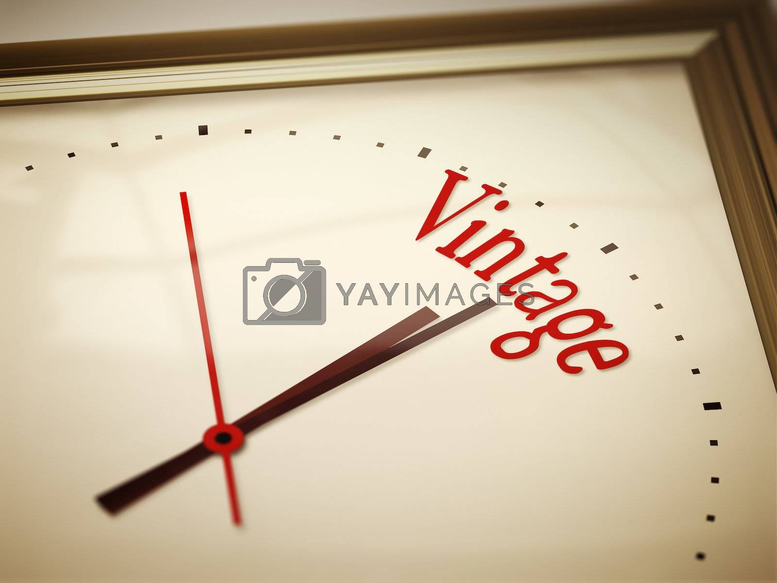 An image of a nice clock with vintage