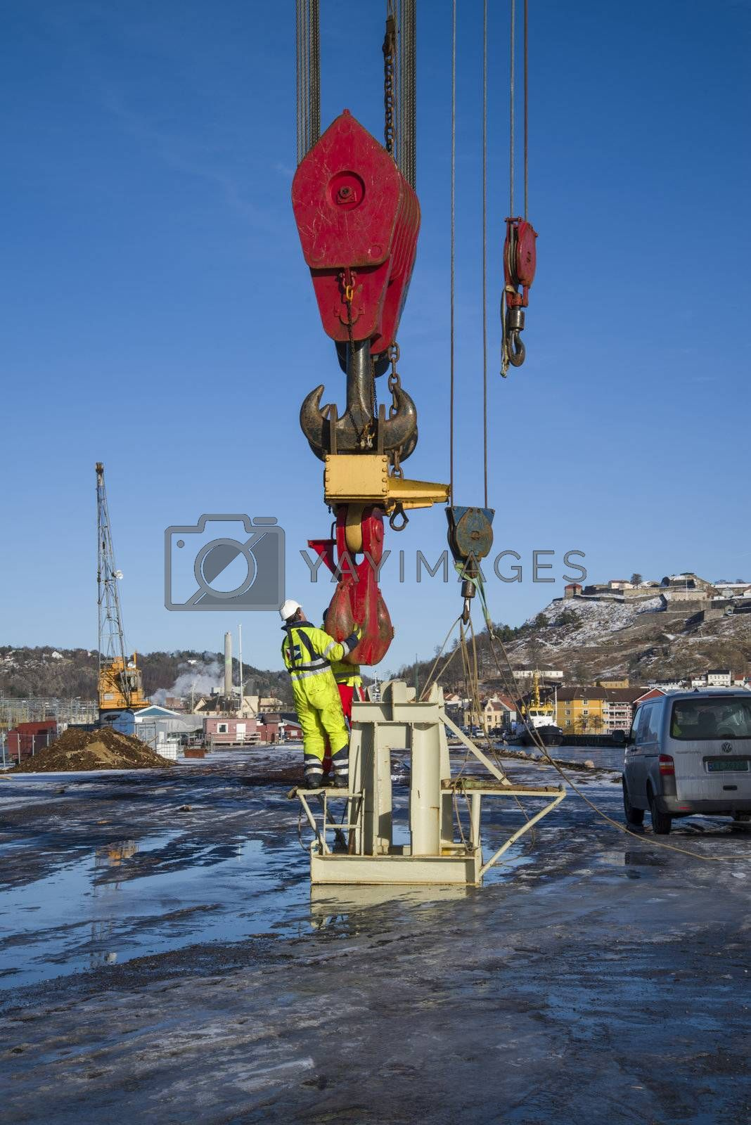 Royalty free image of lifting hook to taklift by steirus