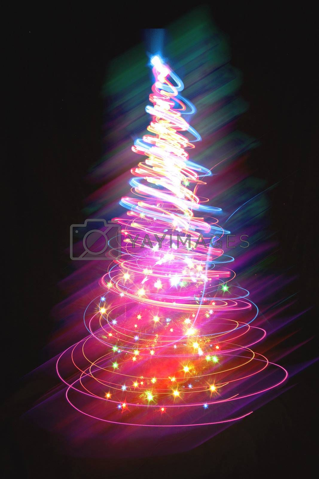 nice christmas tree from the colors lights