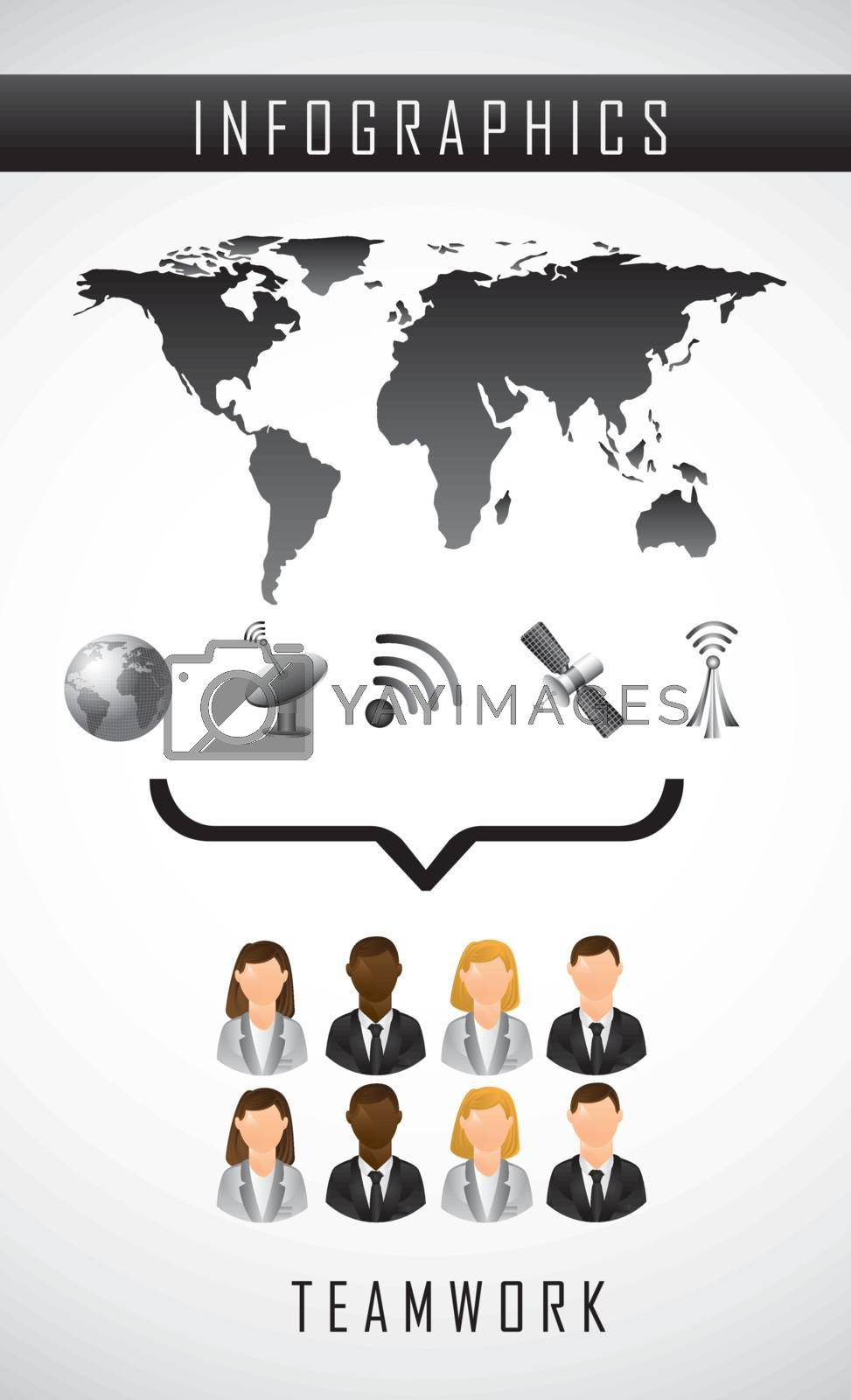 infographics of communication over white background. vector illustration
