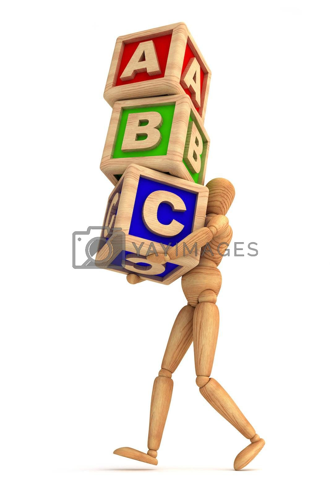 Dummy carrying cubes