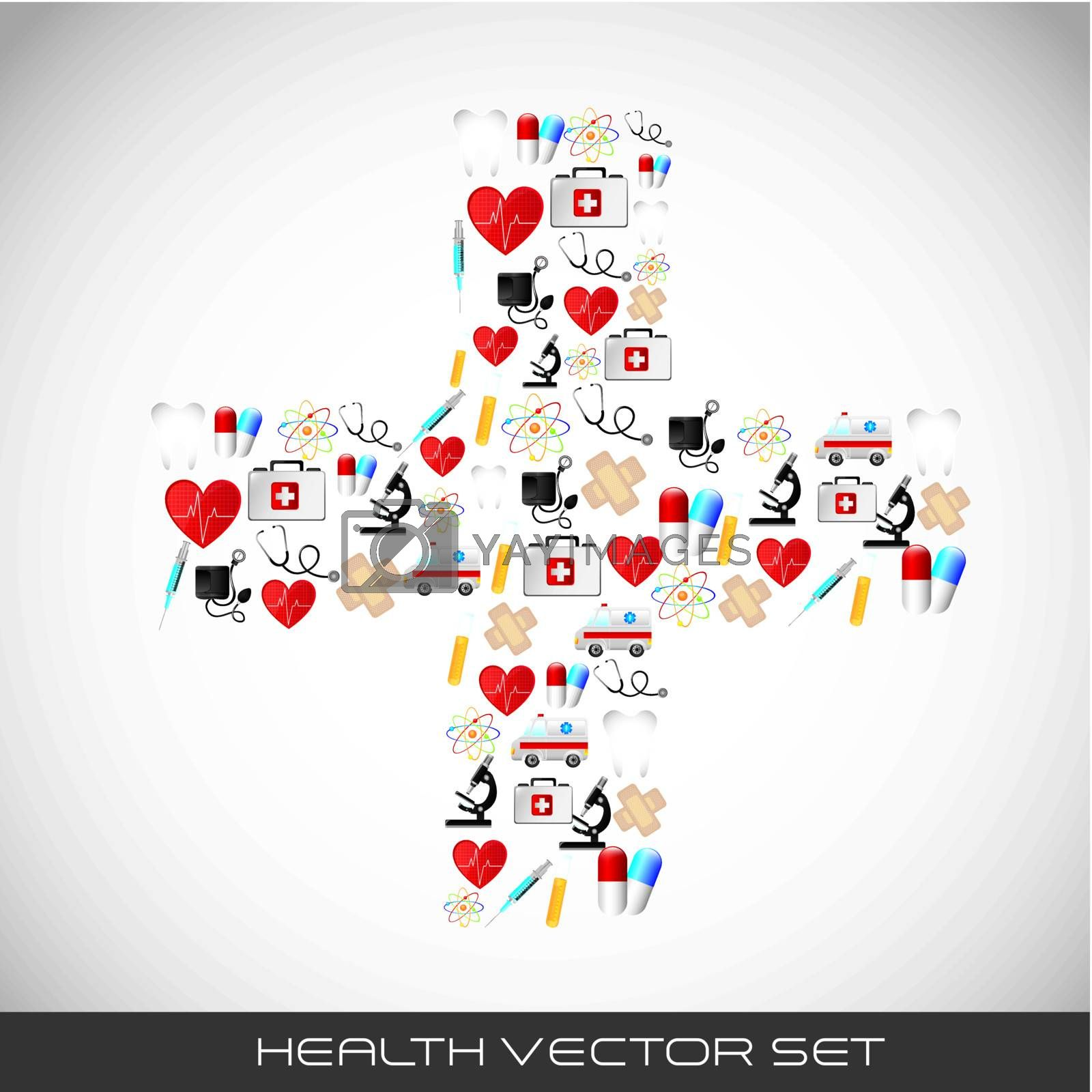 icons in cross shape over gray background. vector illustration