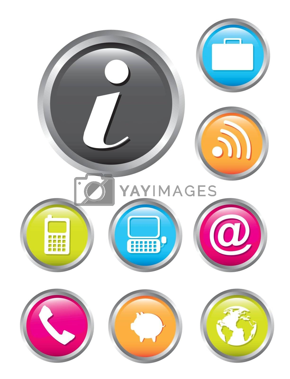 communication icons isolated over white background. vector illustration