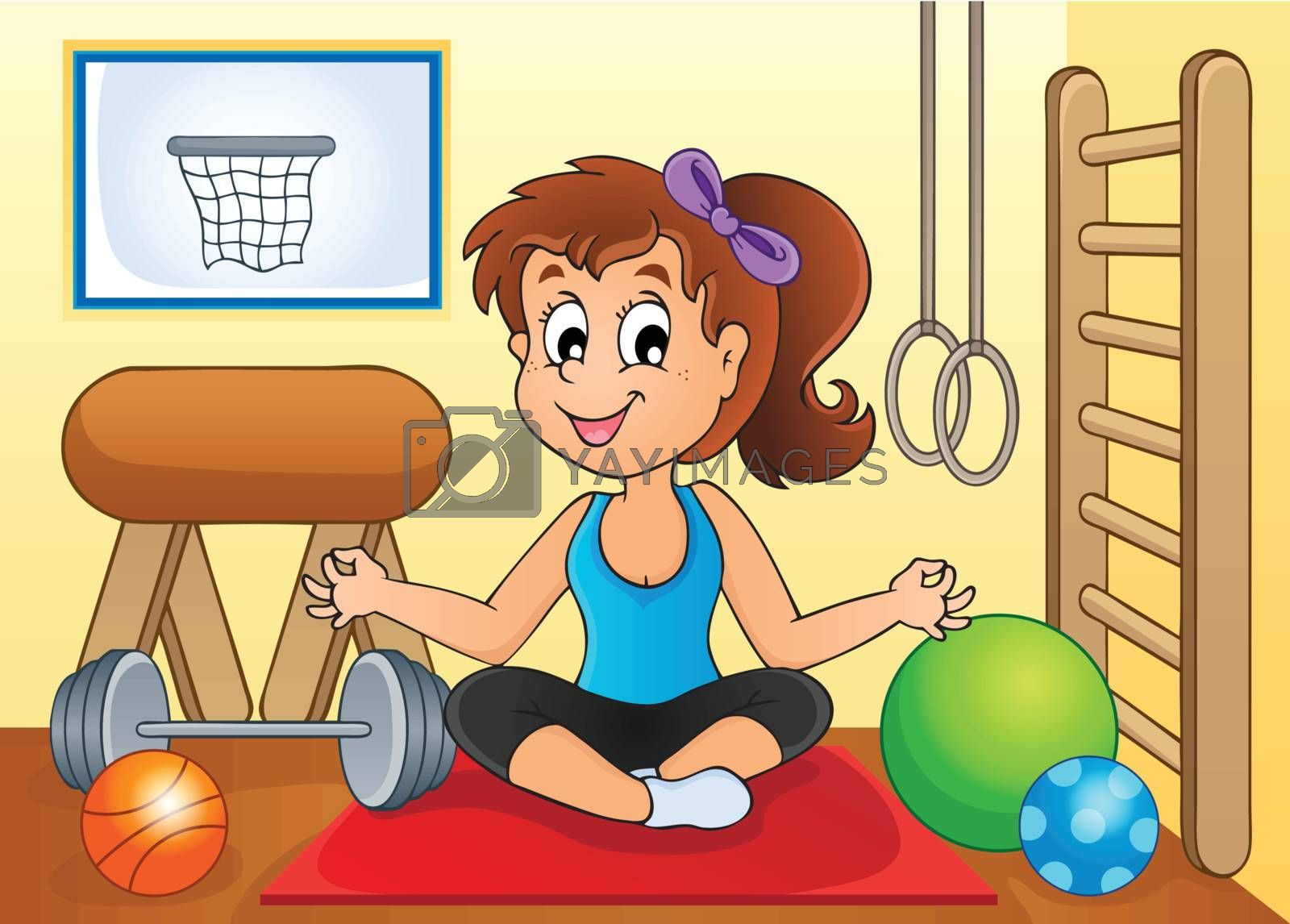 Sport and gym theme image 2 - eps10 vector illustration.