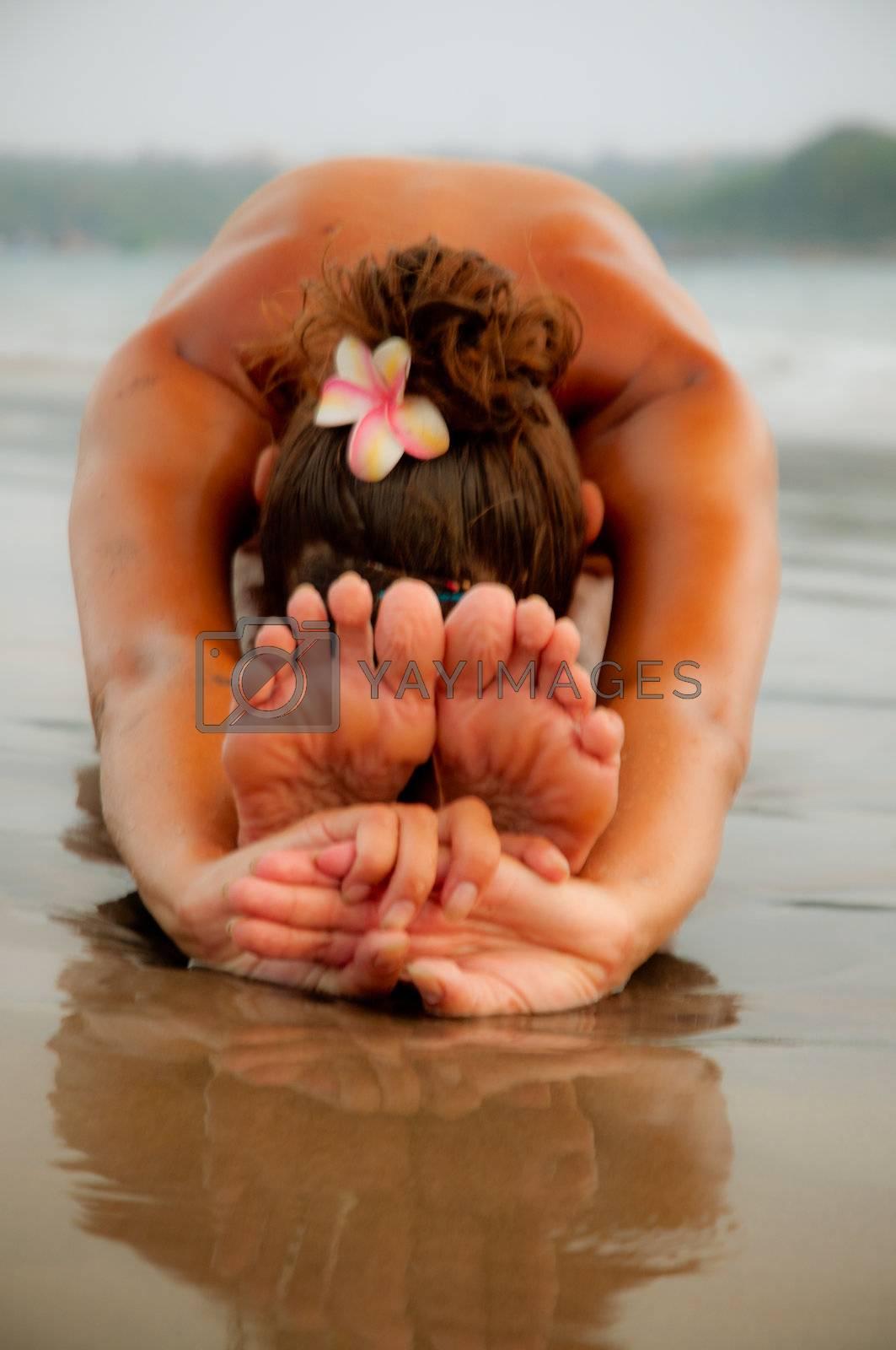 yoga girl on sunset