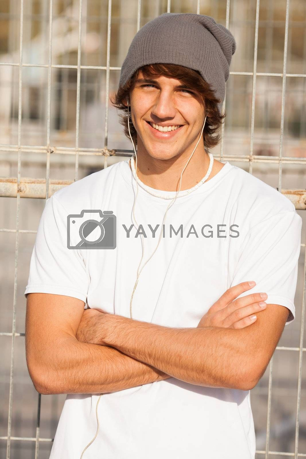 Royalty free image of young handsome man portrait by Lcrespi
